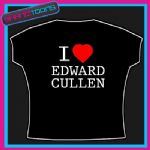 I LOVE HEART EDWARD CULLEN TWILIGHT NEW MOON TSHIRT